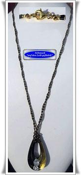 697. 2-reihige schwarze Muranoglas-Kette