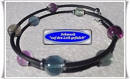165) Memory Wire-Armband mit Fluorit