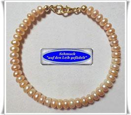 222) zierliches Süßwasser-Zuchtperlen-Armband