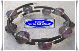 199) Memory Wire-Armband mit Crystallized-Glasperlen