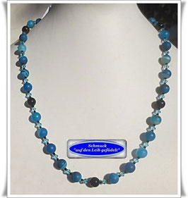 1515. blaue Achat-Kette
