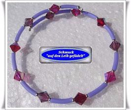142) Memory Wire-Armband in Beerentönen