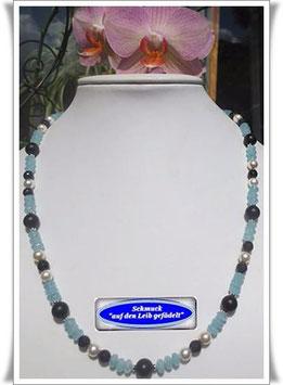 1337. Quarz-Blaufluss-Onyx-Kette
