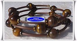 113) Memory Wire-Armband mit  Tigerauge TS