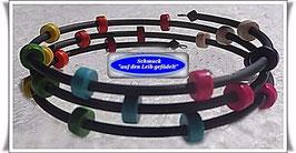123) Memory Wire-Armbänder mit buntem Türkisstein TS