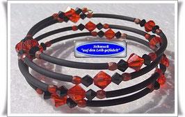 128) Memory Wire-Armband mit Swarovski-Biconen