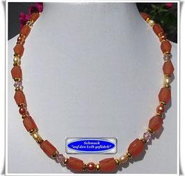 507.  orange Glasperlenkette