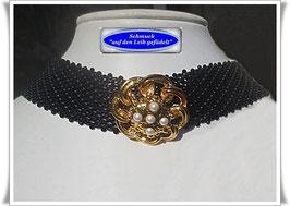 13) edles Trachten-Halsband mit Zierknopf
