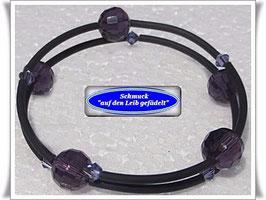 65) Memory Wire-Armbänder mit Kristallglasperlen TS