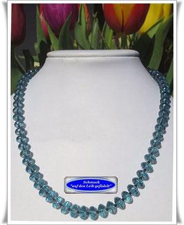 693. blaue Quarz-Kette