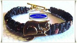 5) niedliche Katzen-Knopf-Armbänder