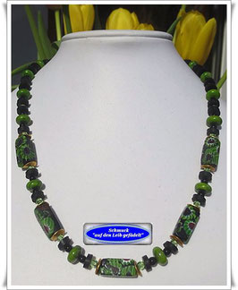 718. edle Millefiori Trade Beads-Kette