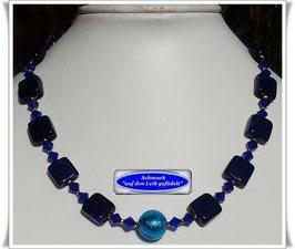 1942. kobaltblaue Muranoglas-Perlenkette
