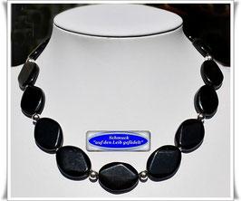 2007. elegantes schwarzes Achat-Collier