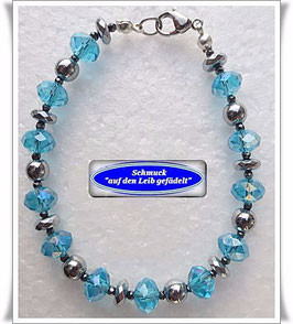 95) Kristallglas-Pyrit-Armband