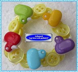 21) Armband mit Enten-Knöpfen TS