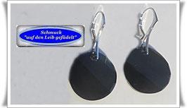 1601. schwarze Swarovski-Ohrringe