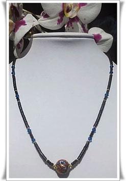 1284. zierliche Kette mit Muranoglas-Perle