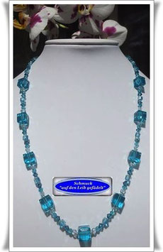 1286. türkisfarbene Glasperlenkette