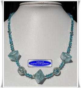 223. echte Muranoglas-Perlen-Kette