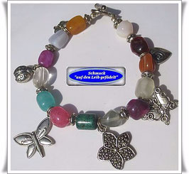 139) buntes Edelstein-Armband
