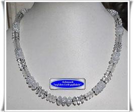 1597. elegantes Bergkristall-Collier Set