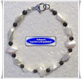 159) Biwa-Keshi-Perlen-Armband