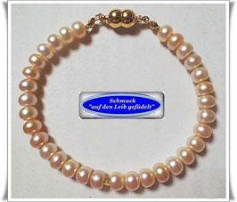 221) edles Süßwasser-Zuchtperlen-Armband