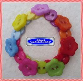 56) Kinderarmband mit Blümchenknöpfen TS