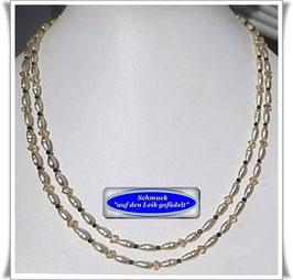 1527. 2-reihige Swarovski-Spinell-Perlenkette