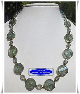 1450. edle grüne Glasperlenkette