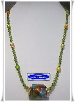 780. Swarovski-Kette mit Muranoglas-Perle