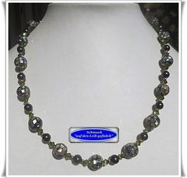 1602. edle Abalone-Mosaik-Perlenkette