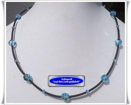 4) PVC-Schlauch-Kette mit Swarovski-Perlen TS
