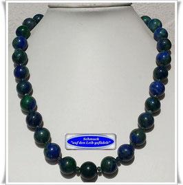 1954. edles Azurit-Malachit-Smaragd-Collier