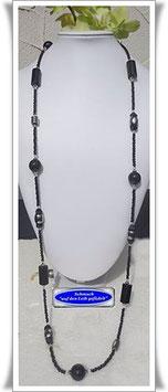 1265. lange schwarze Perlenkette