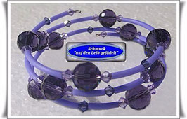 131) violettes Memory Wire-Armband