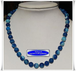 1710. blaue Bandachat-Kette