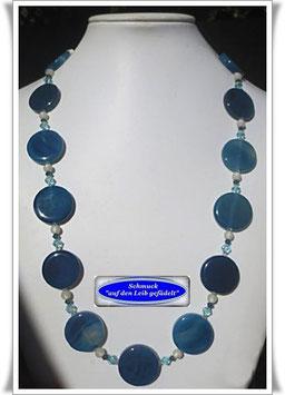 1469. lange blaue Achat-Kette