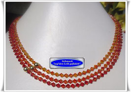 434. 3-reihiges Swarovski-Collier