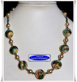 1931. elegante Swarovski-Muranoglas-Perlenkette
