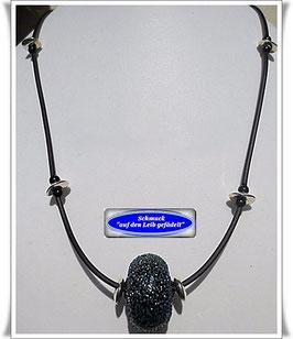 227. schicke schwarze Muranoglas-Kette