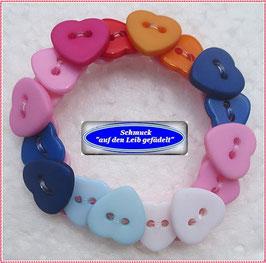 53) buntes Herzchen-Armband TS