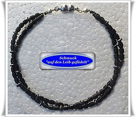 224) 2-reihiges Glasperlen-Armband