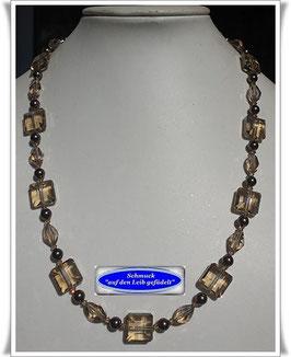 1816. elegante Swarovski-Pearls-Glasperlenkette