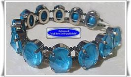 250) elegantes Armband mit gefassten Swarovski-Ovalen