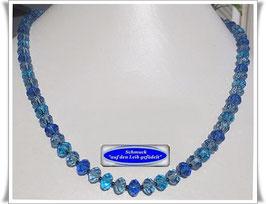 424. blaue Kristallglaskette