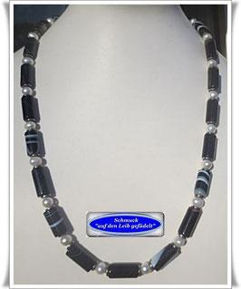 1566. Botswana Achat-Perlenkette