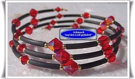 127) Memory Wire-Armband mit Swarovski-Biconen