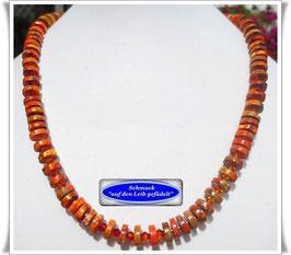 1502. orangefarbene Meeressediment Jaspis-Kette Set